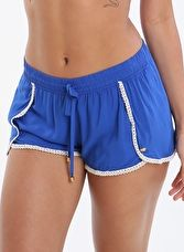 Phax, 1295[^]272897 Colour Mix Lace Detail Shorts - Blue