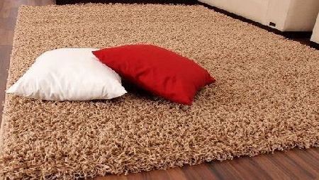 PHC Shaggy Rug High Pile Long Pile Modern Carpet Uni Beige, Size:140x200 cm product image