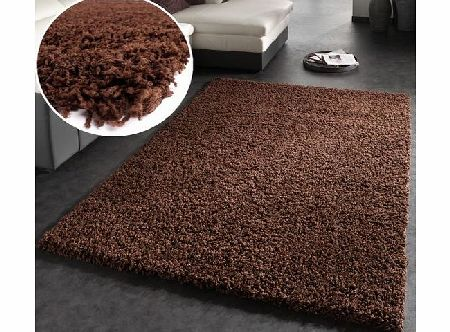 PHC Shaggy Rug High Pile Long Pile Modern Carpet Uni Brown, Dimension:120x170 cm product image