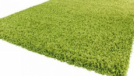 PHC Shaggy Rug High Pile Long Pile Modern Carpet Uni Green, Dimension:120x170 cm product image