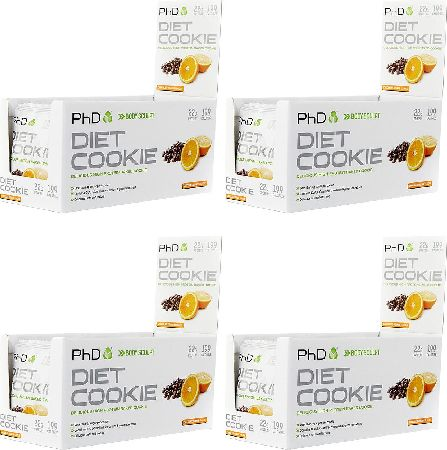 PhD Supplements, 2102[^]0139051 Diet Cookie Choc Orange 12 x 60g x Fourpack