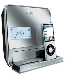 philips dcb210 dab ipod dock clock radio review compare prices buy online. Black Bedroom Furniture Sets. Home Design Ideas