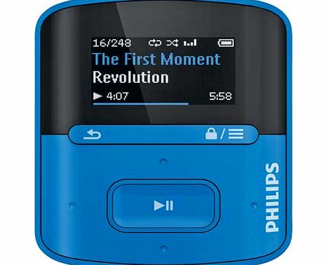 Philips GoGear Raga 4gb MP3 Player - Blue