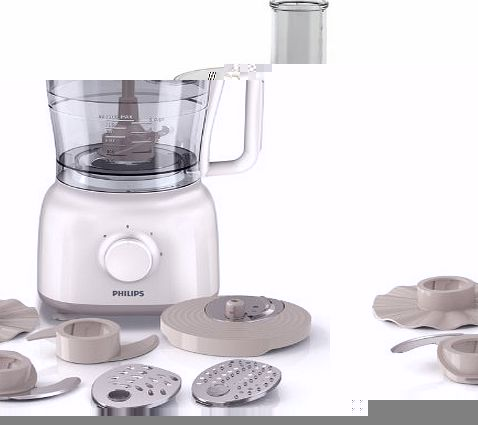 philips hr7627 01 daily collection food processor 2 1 litre 650 watt white beige review. Black Bedroom Furniture Sets. Home Design Ideas