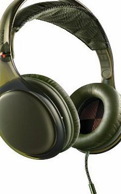 Philips ONeill SHO9567GN/10 STRETCH Scratch Headphones with iPhone Control - Green