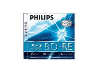 Philips PHILIP BD-RE 25GB Blu-ray Disc Rewritable Jewel Case product image