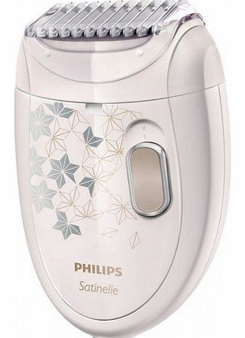 Satinelle Corded Epilator HP6423/00 with Ladyshave Head Plus Trimming Comb