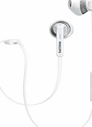 Philips SHB5250WT/00 Wireless Bluetooth Headset (Microphone, Tangle-Free Cable, Earbud Shape) - White