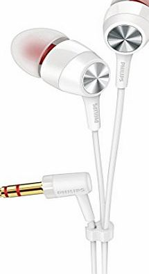 Philips SHE8000WT/10 Compact Fit Headphones for Bass Sound - White
