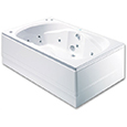 Marino 24 Jet Rectangular Double Ended Luxury Whirlpool/Airpool Bath