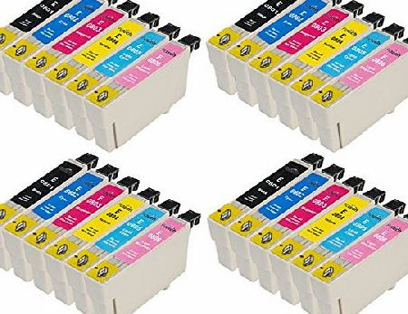 Pictech 3 Sets = 18 Epson T0487 Compatible Printer Ink Cartridges for Epson Stylus Photo R200 R220 R300 R300M R320 R330 R340 RX500 RX600 RX620 RX640 Printers (3x Black, 3x Cyan, 3x Magenta, 3x Yellow, 3x Ligh product image
