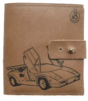 Pik & Pokket Countach Embossed Leather Wallet by product image