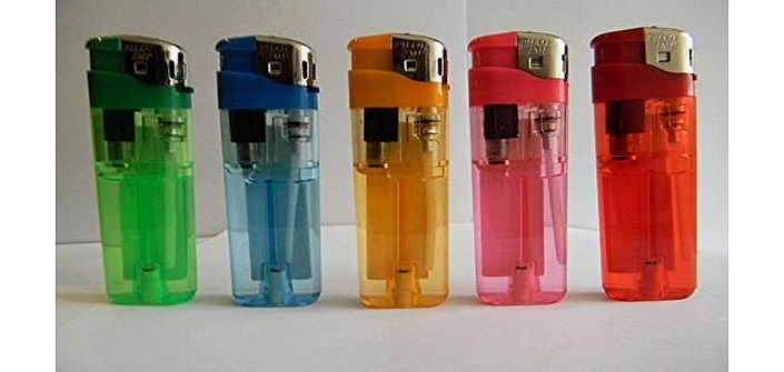 Pilot 10 ELECTRONIC LIGHTERS GAS REFILLABLE ADJUSTABLE FLAME IN FIVE COLOURS