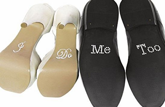 Pimp My Shoes His amp; Hers Set of Crystal I Do amp; Me Too Wedding Shoe Stickers For Your Wedding Shoes, Great Wedding day gift Novelty Gift (CLEAR I DO amp; ME TOO SET)