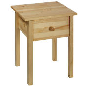 This solid pine bedside table has a laquered pine finish and 1 drawer with matching solid pine handl - CLICK FOR MORE INFORMATION