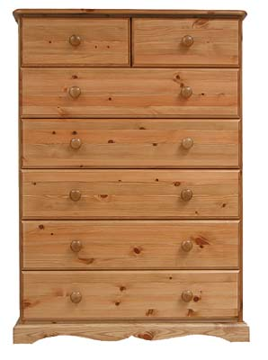 Shaker Oak Chest of Drawers 2 over 5