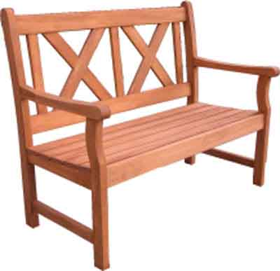 Shaftesbury 2 seater cross back bench. - CLICK FOR MORE INFORMATION