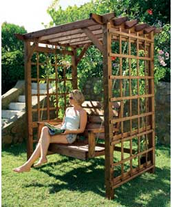 Trellis sides are ideal for climbing plants. Size (H)200, (W)185, (D)140 - CLICK FOR MORE INFORMATION