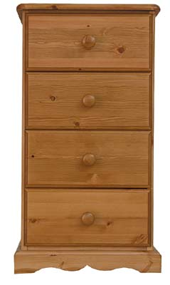 4 Drawer Bedside Cabinet. The drawers have dovetailed joints  with tongue and grooved bases. All - CLICK FOR MORE INFORMATION