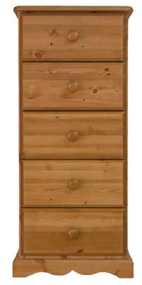 5 Drawer Bedside Cabinet. The drawers have dovetailed joints  with tongue and grooved bases. All - CLICK FOR MORE INFORMATION