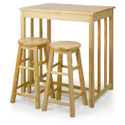 Pine Bar Table & 2 Stool Set product image
