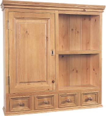 pine bathroom cabinet large glazed pine bathroom cabinet 2door mirror