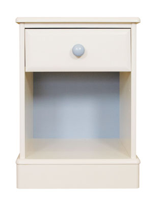 1 DRAWER OPEN BEDSIDE CABINET FROM THE DELIGHTFUL JACK AND JEMIMA RANGE OF PAINTED BEDROOM - CLICK FOR MORE INFORMATION