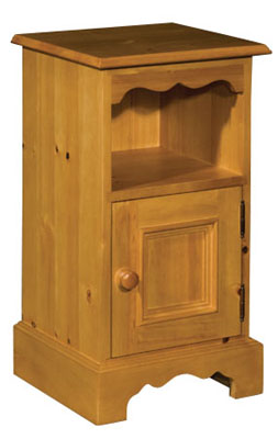 Rossendale Pine right hinged bedside cabinet cupboard. Rossendale pine bedroom furniture features grooved detail on drawers and neat carved plinths. There is a wide selection to choose from and Rossendale furniture is available in a range of attracti - CLICK FOR MORE INFORMATION
