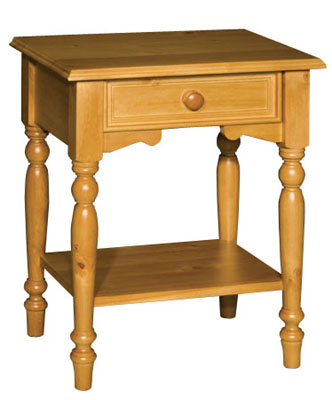 Rossendale Pine one drawer bedside table. Rossendale pine bedroom furniture features grooved detail on drawers and neat carved plinths. There is a wide selection to choose from and Rossendale furniture is available in a range of attractive finishes.  - CLICK FOR MORE INFORMATION