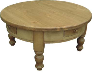 Pine Coffee Table Round 4 Drawer Review Compare Prices Buy Online