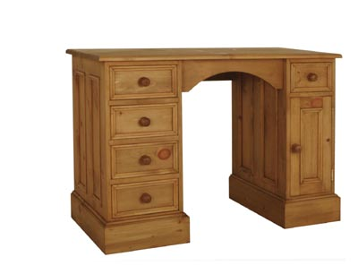 pine DESK SMALL CUPBOARD KNEEHOLE review pare prices