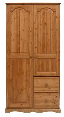 pine DOUBLE COMBINATION WARDROBE BADGER product image