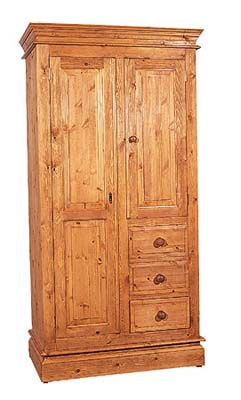 pine Double Wardrobe Combination Romney product image