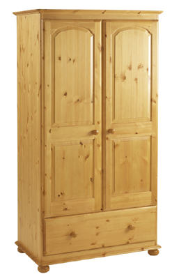 pine Double Wardrobe With Drawer Extra Deep product image