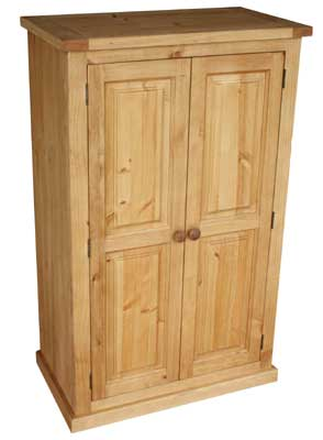 pine small double ladies Wardrobe Cottage product image