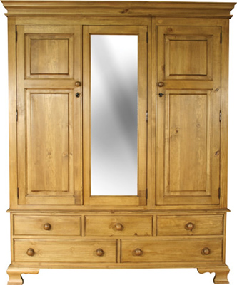 pine WARDROBE TRIPLE OGEE WITH MIRROR Pt4 product image