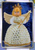 Sequin art, Pinflair Doll - Angelina Cream/Gold