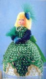 Sequin art, Pinflair, Edwardian doll, Jewels, Emerald