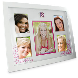 PINK 18th Birthday Collage Photo Frame product image