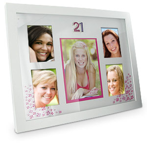 PINK 21st Birthday Collage Photo Frame product image