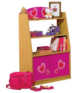 Pink Hearts Tidy Chest with Sliding Doors product image