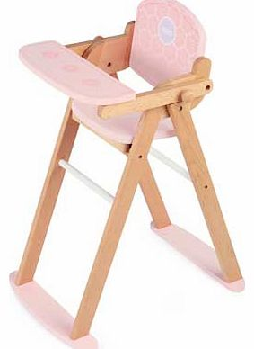 Pintoy Tidlo Wooden Folding Doll High Chair