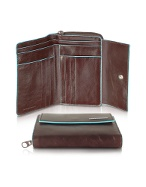 Piquadro Blue Square-Womens Leather French Purse product image
