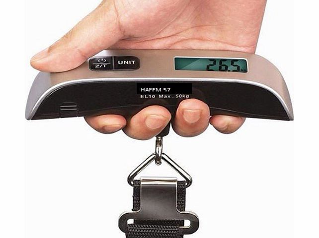 Pixnor Portable T-shaped 50kg/10g LCD Digital Electronic Luggage Scale with Room Temperature Display (T-shaped Black) product image