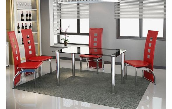 2 seat dining table and 2 chairs : pkl leisure new modern black and clear glass with chrome 4 seat dining table and  from www.comparestoreprices.co.uk size 590 x 375 jpeg 42kB