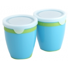 Two brightly coloured pots with convenient storage day markers and travel safe liquid tight seals. A perfect size for babys first meals Features:Convenient storage day markers Travel safe liquid tight seals Perfect size for your babys meal Dishwasher - CLICK FOR MORE INFORMATION
