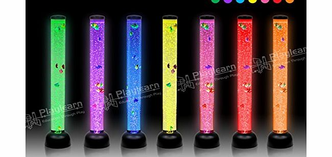 Large Bubble Tube Floor Novelty Lamp With Fish And Led Lights : Playlearn LARGE - Bubble Tube Floor Novelty lamp with Fish amp; LED lights - 105cm - BLACK - NEW ...