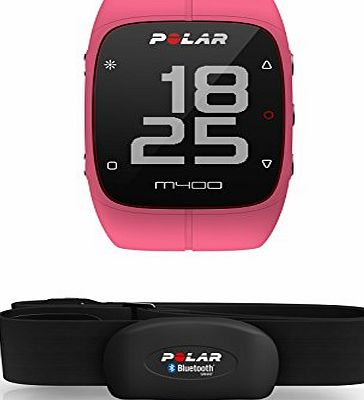 POLAR  M400 GPS Watch - With Heart Rate Monitor, Pink
