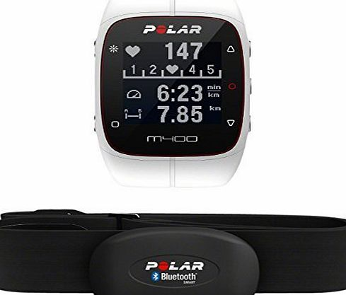 POLAR  M400 GPS Watch - With Heart Rate Monitor, White