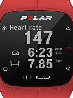 POLAR  M400 GPS Watch - Without Heart Rate Monitor, Red